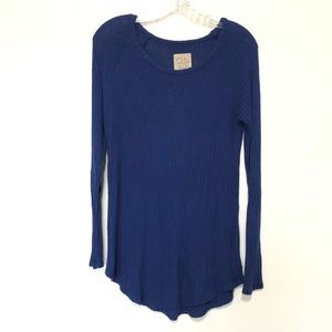 Chaser Thermal Long Sleeve Top Blue Size Medium